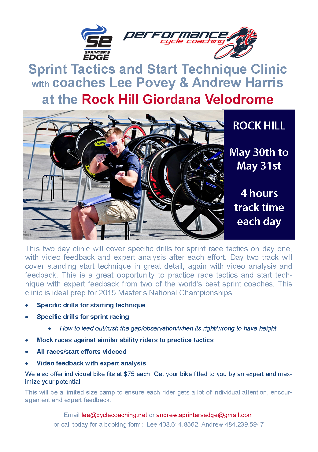 Rock Hill Clinic 30-31 May